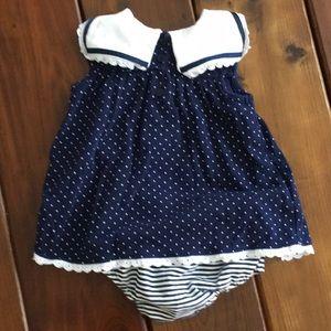 Little Me Dresses - Baby girl sailor style dress - Little Me brand